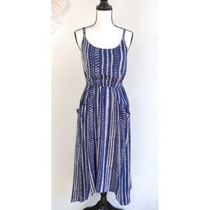 Cabi 5048 Margherita Blue and White Midi Dress